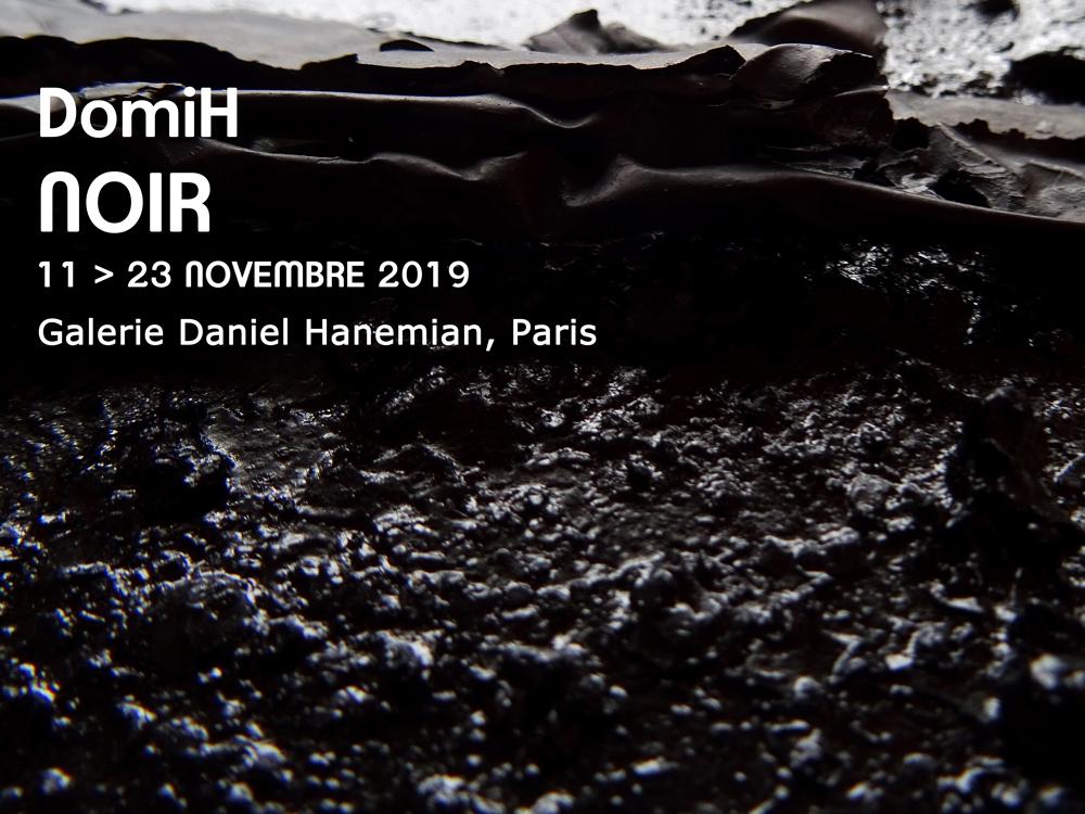 DomiH - Noir -Exposition Galerie Daniel Hanemian