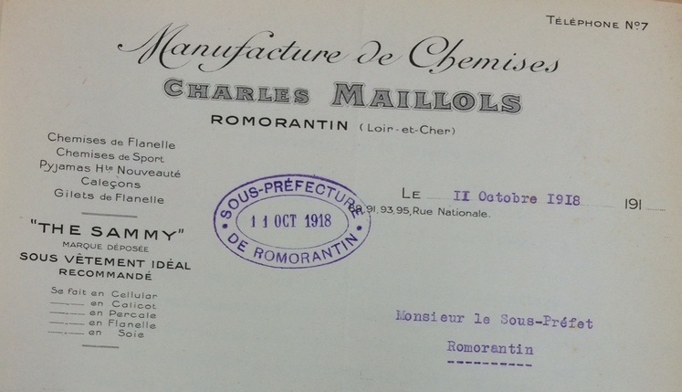 Chemiserie Maillos