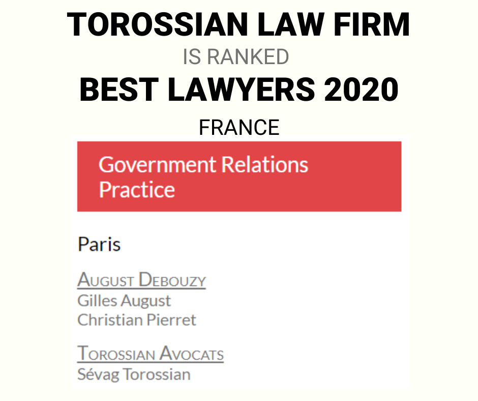 Sevag Torossian international lawyer France Best lawyers 2020