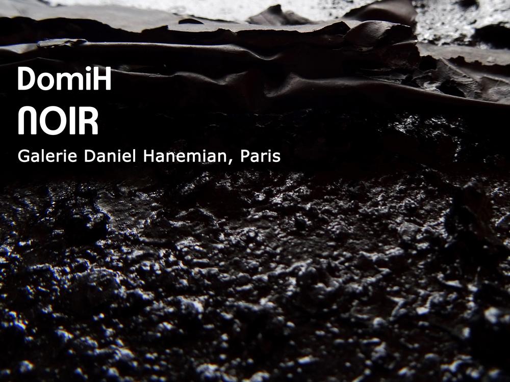 DomiH - NOIR - Galerie Daniel Hanemian - Paris