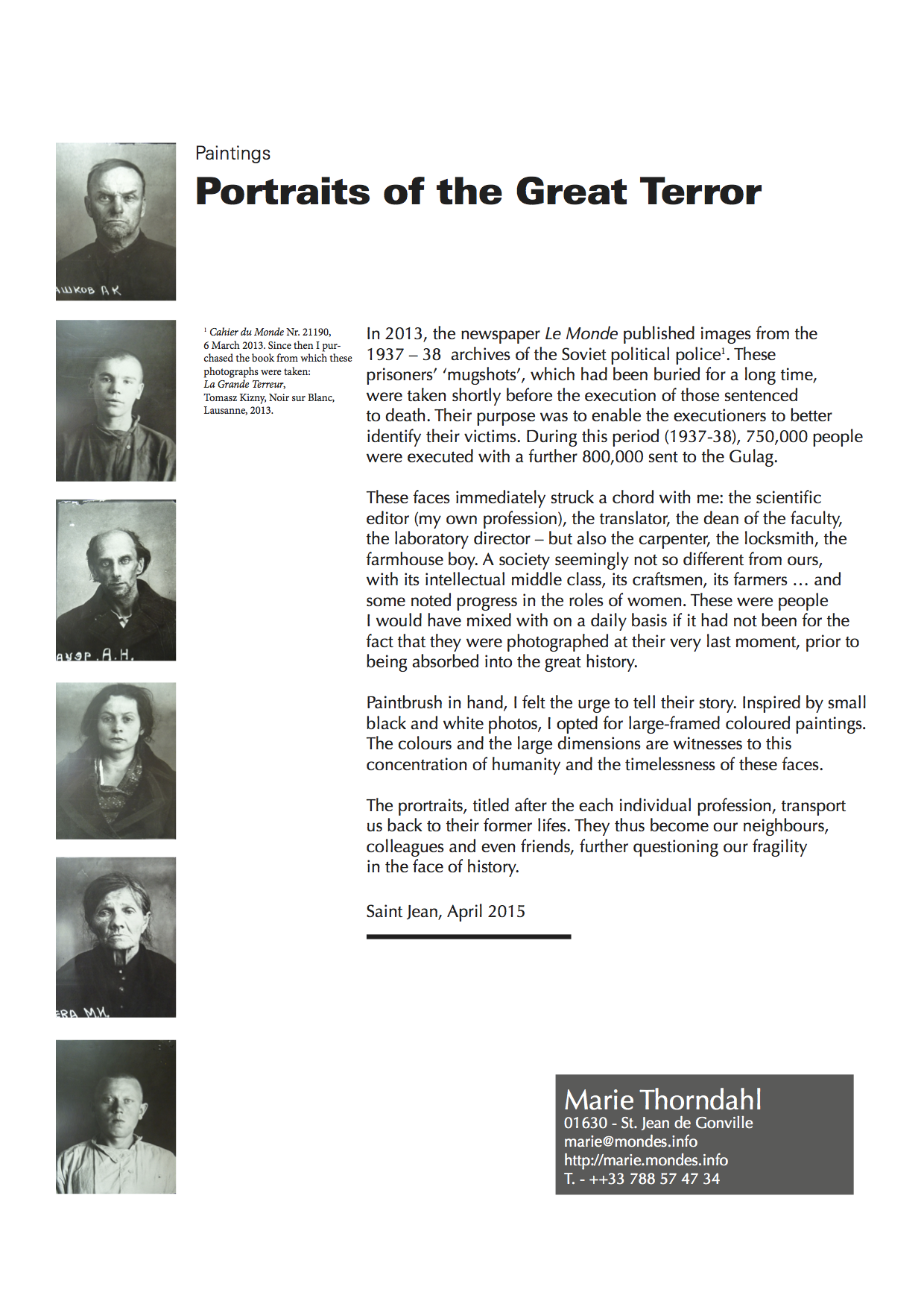 Portraits of the Great Terror Story