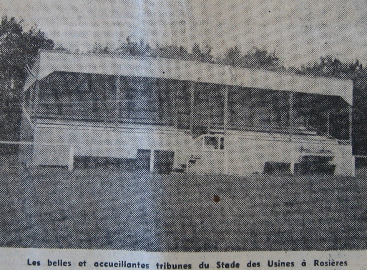 Fin de construction des tribunes du stade des Usines