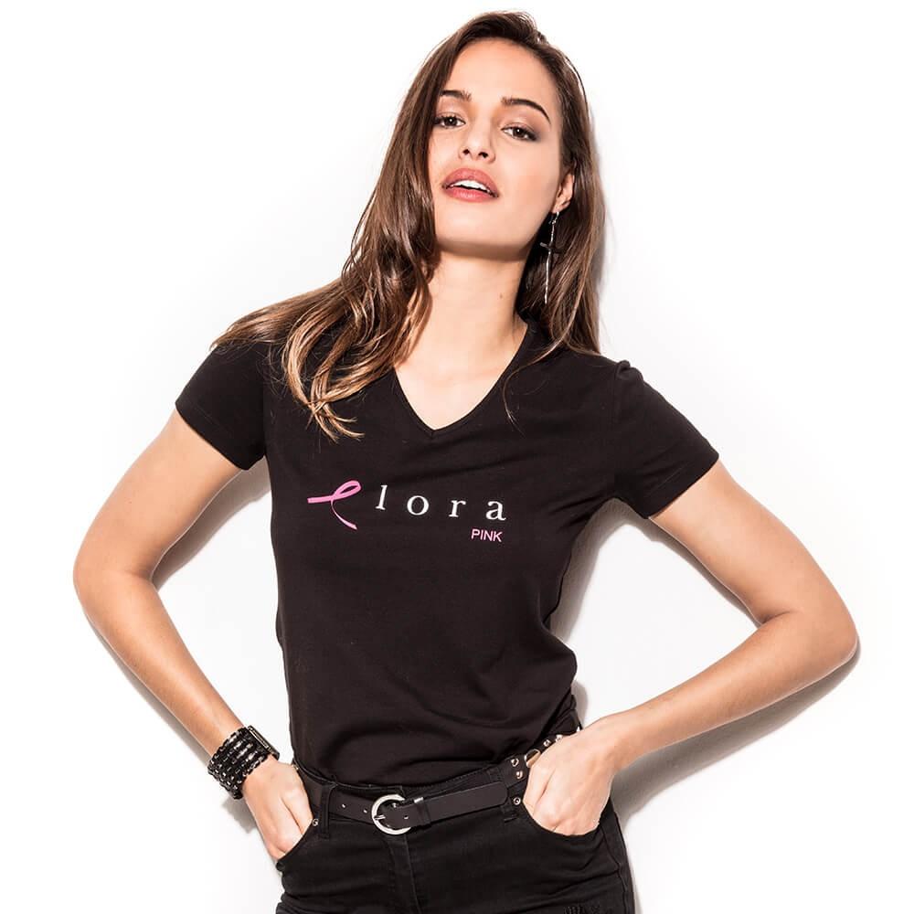 Tee shirt noir Challenge du Ruban Rose - 18RUBANTEE Noir
