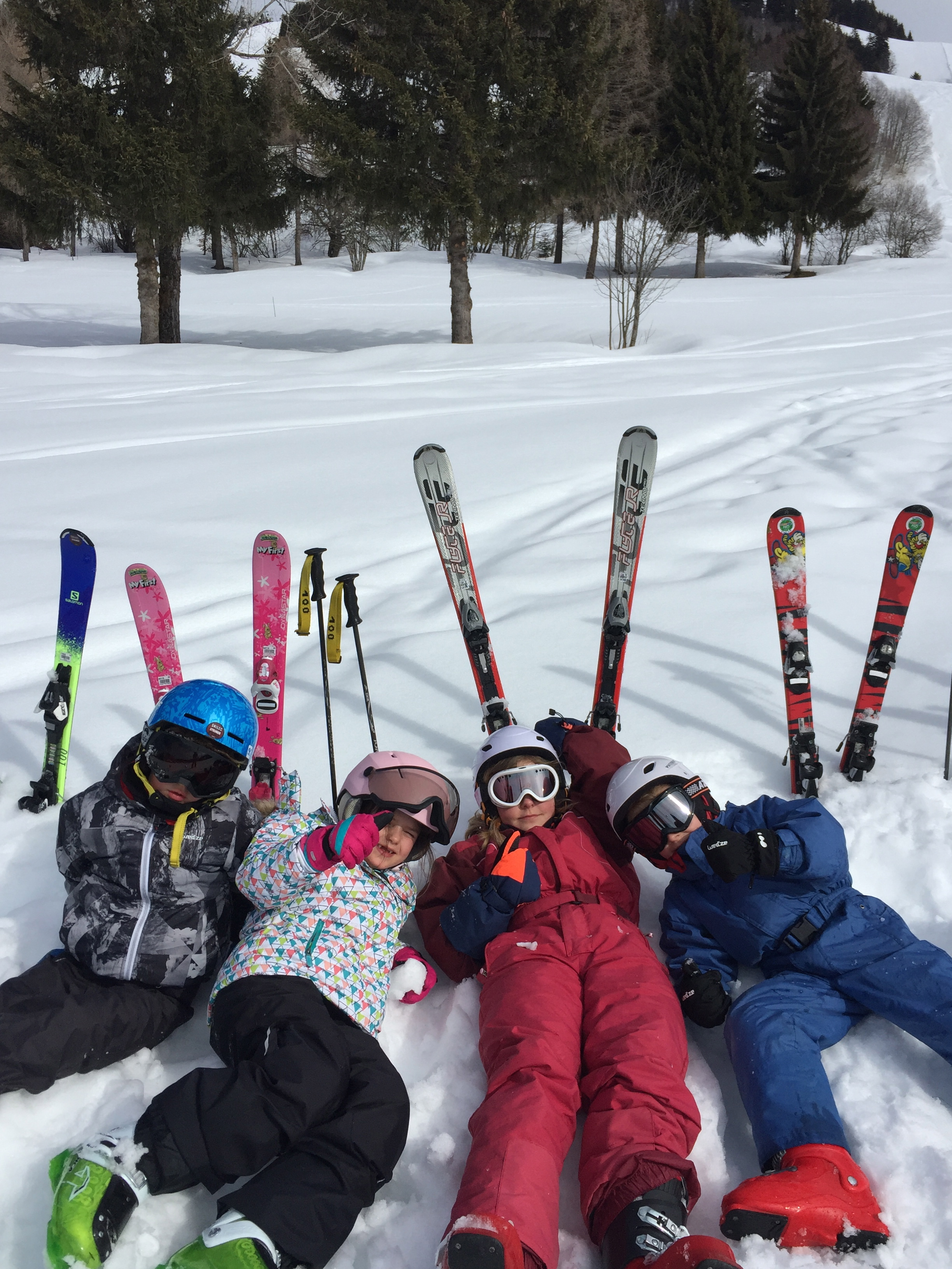 Cours collectifs ski 8 pers max/Group ski lesson 6/12 ans/13h00-15h00