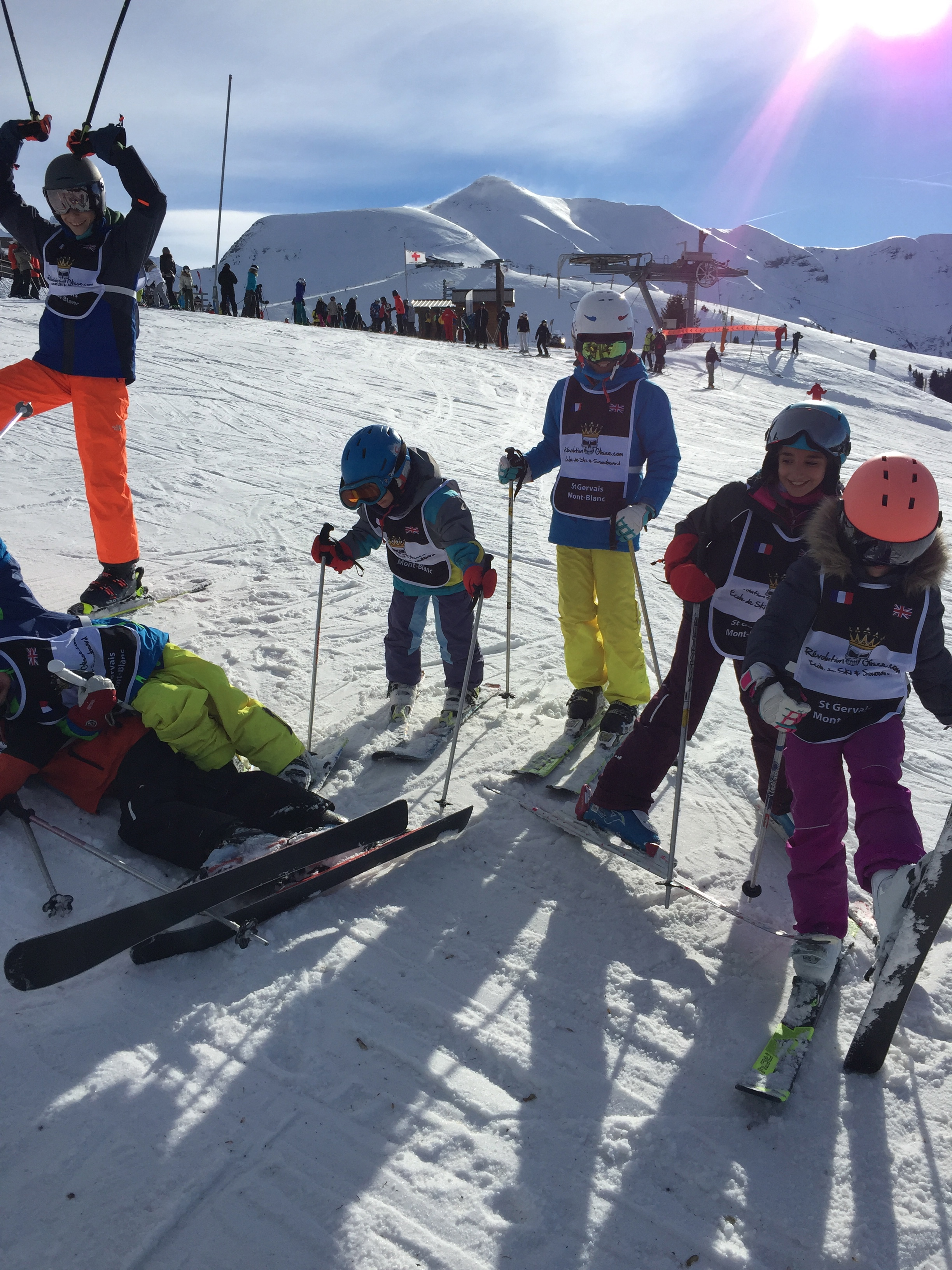 Cours collectifs ski 8 pers max/Group ski lesson 6/12 ans/ 9h00-11h00