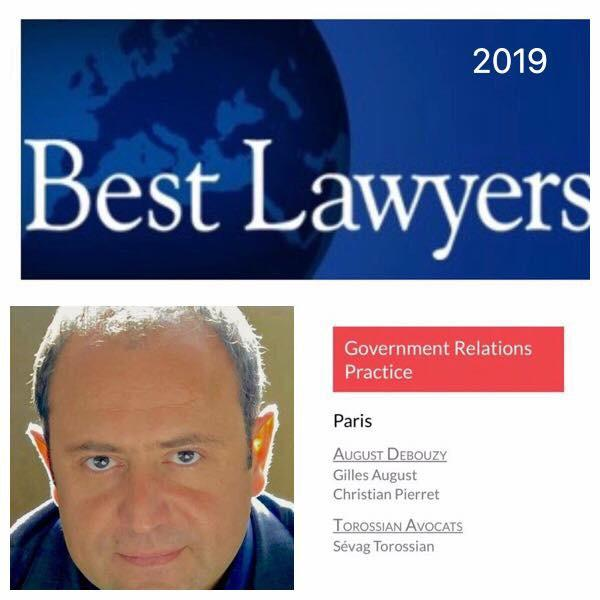 Sevag Torossian avocat Best Lawyers 2019 Government relations practicejpg