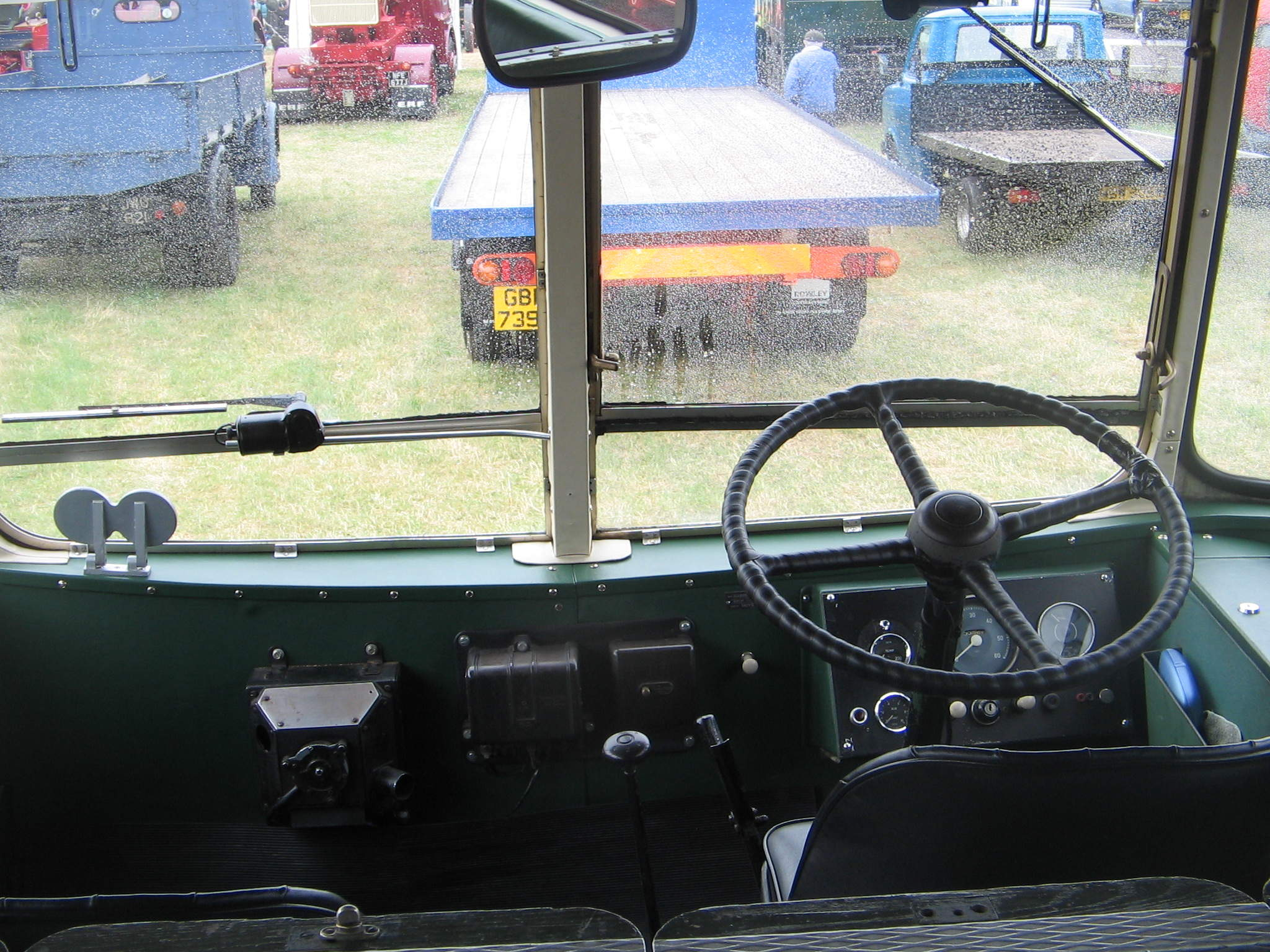 The Little Red Bus drivers cab