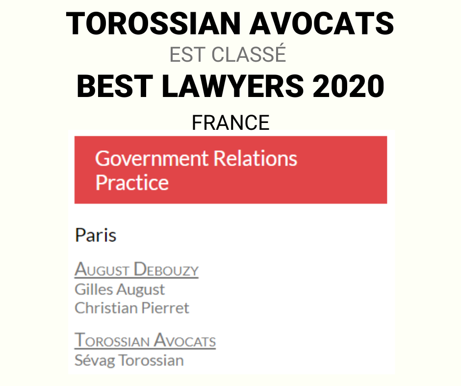 Sevag Torossian avocat Best lawyers 2020 France