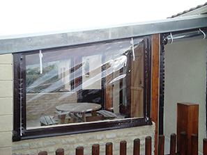 Abs atlantique baches services baches pour mobil home - Bache coupe vent pour terrasse ...