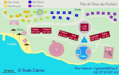 plan de l' Anse des Rochers