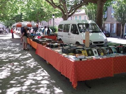la librairie sur le marché aux livres de Sorèze