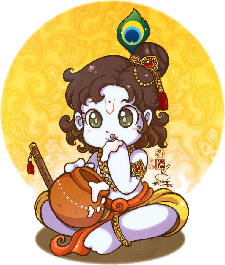 Little Krishna by Sine