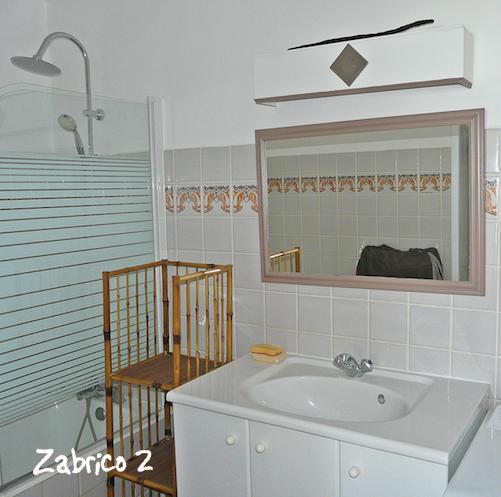 Anse des Rochers : la salle de bain
