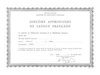 Diplôme Approfondi de Langue Française