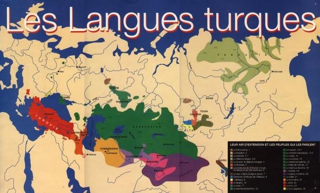 Aire d'extension des langues turques