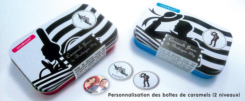 bretagne moderne boite caramels bretons maison armorine missbreizh misterbreizh personnalisation