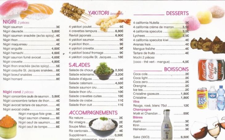 Carte Allo Sushi