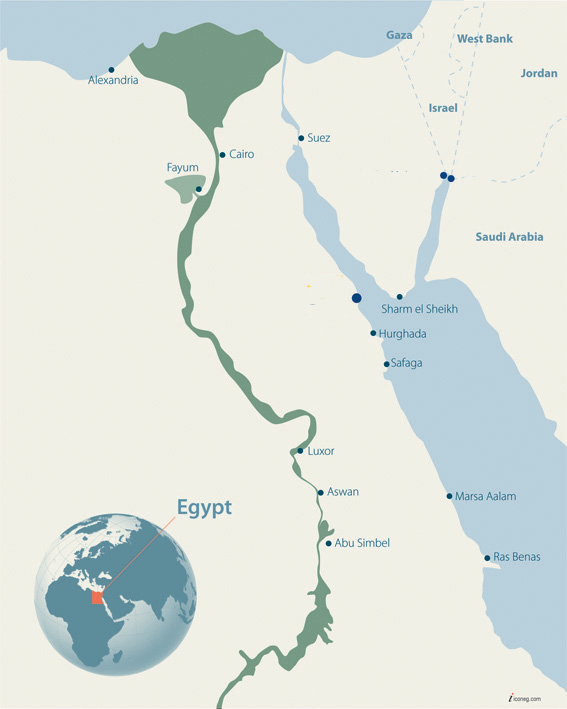 About - Map of egypt el gouna
