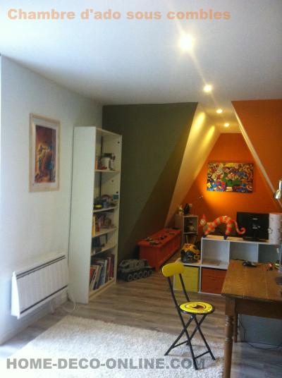 chambre adolescent sous comble peinture architecte liane et meteore marvell chaise smiley sol leroy merlin stratifié lit sous pente