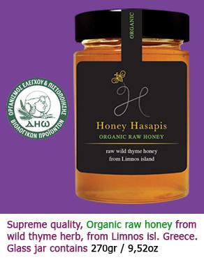 HoneyLimnos: Organic raw thyme Honey Hasapis DIO certified