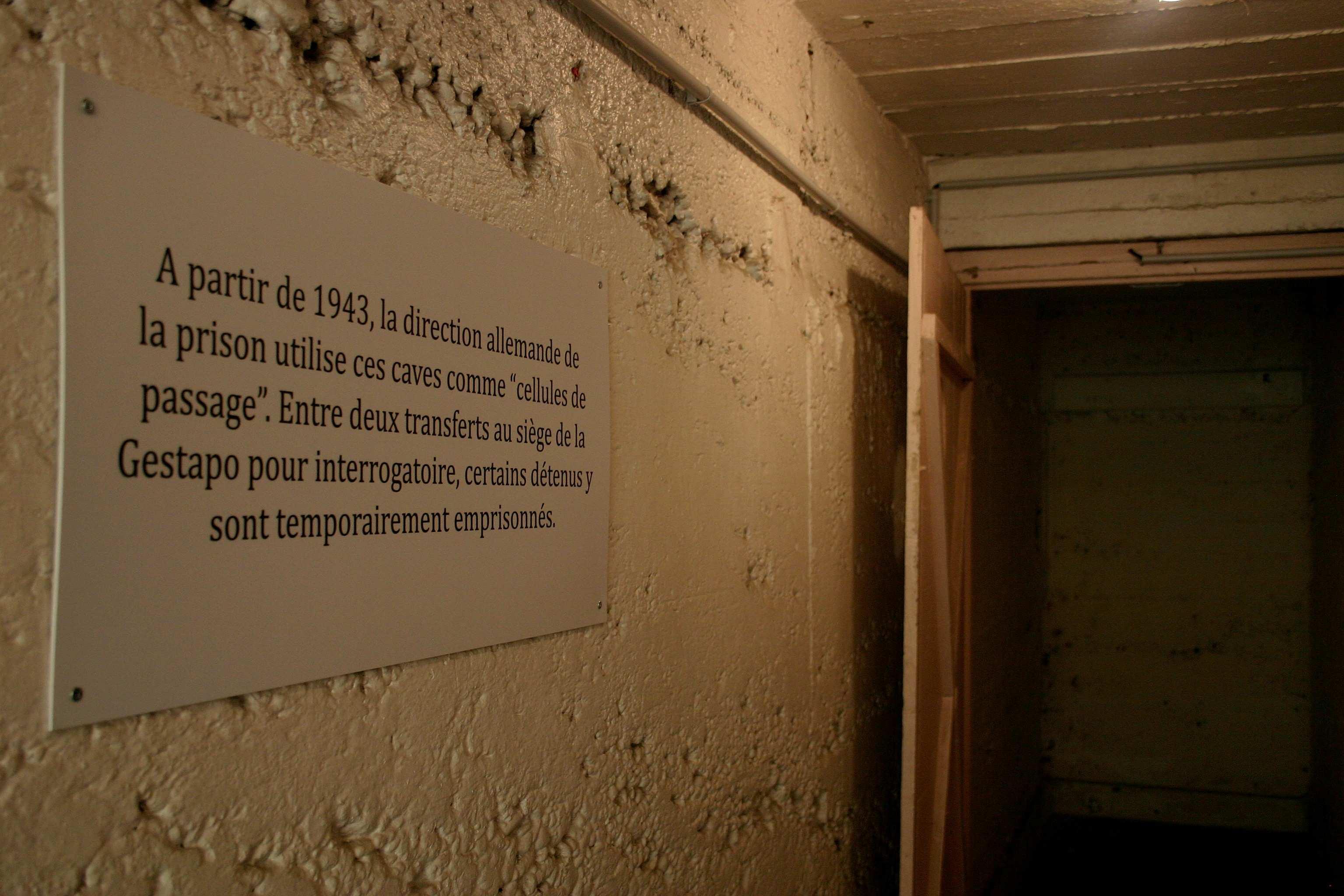 Les caves à usage cellulaire du greffe ® Mémorial Montluc