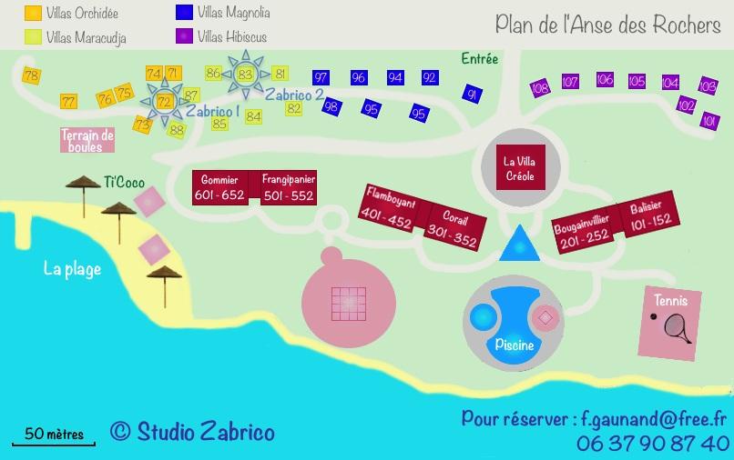 Plan de l'Anse des Rochers