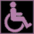 Logo accès handicapé
