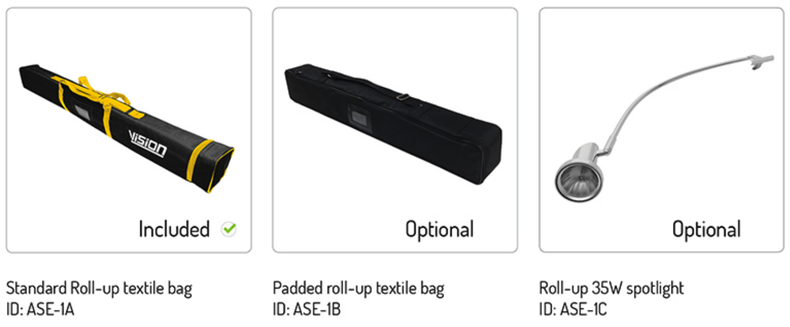 textile bag roll up