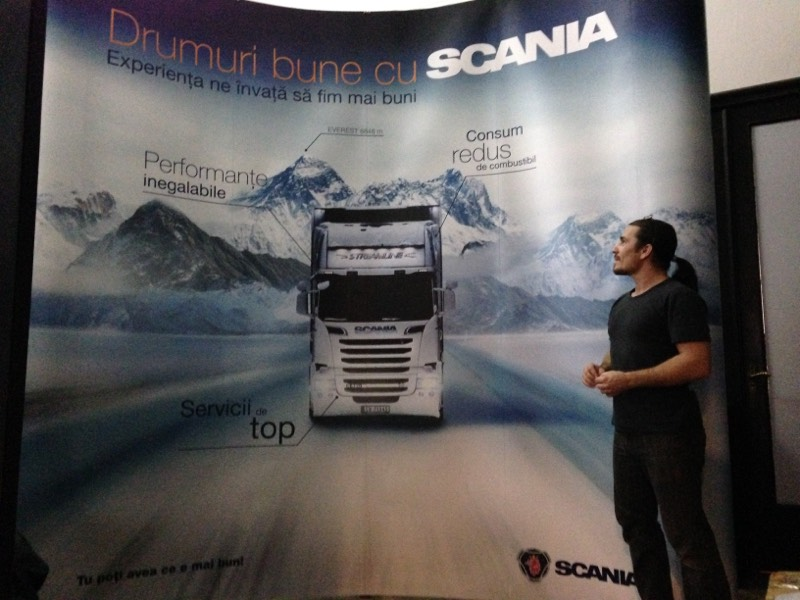 automotive scania pop up
