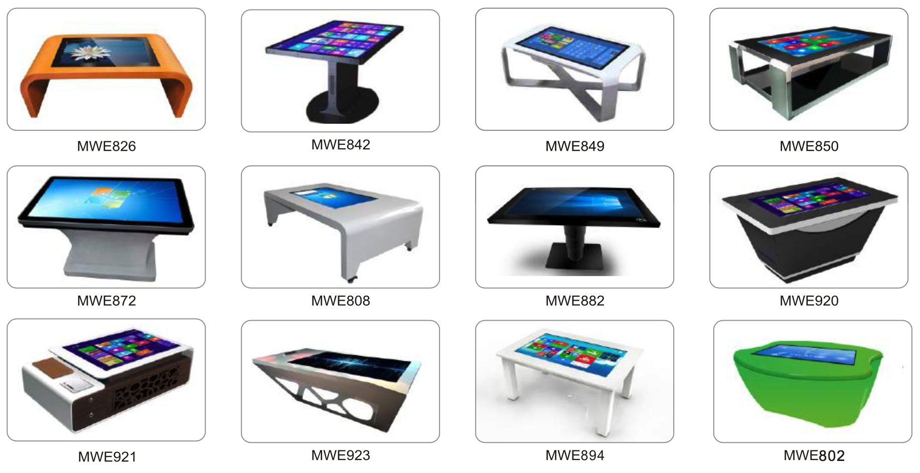 custom touch screen table