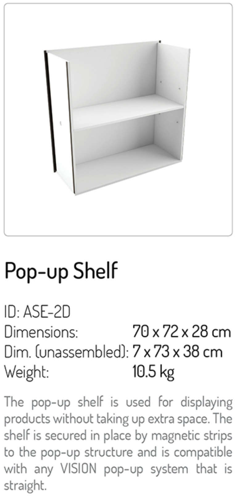 pop up shelf
