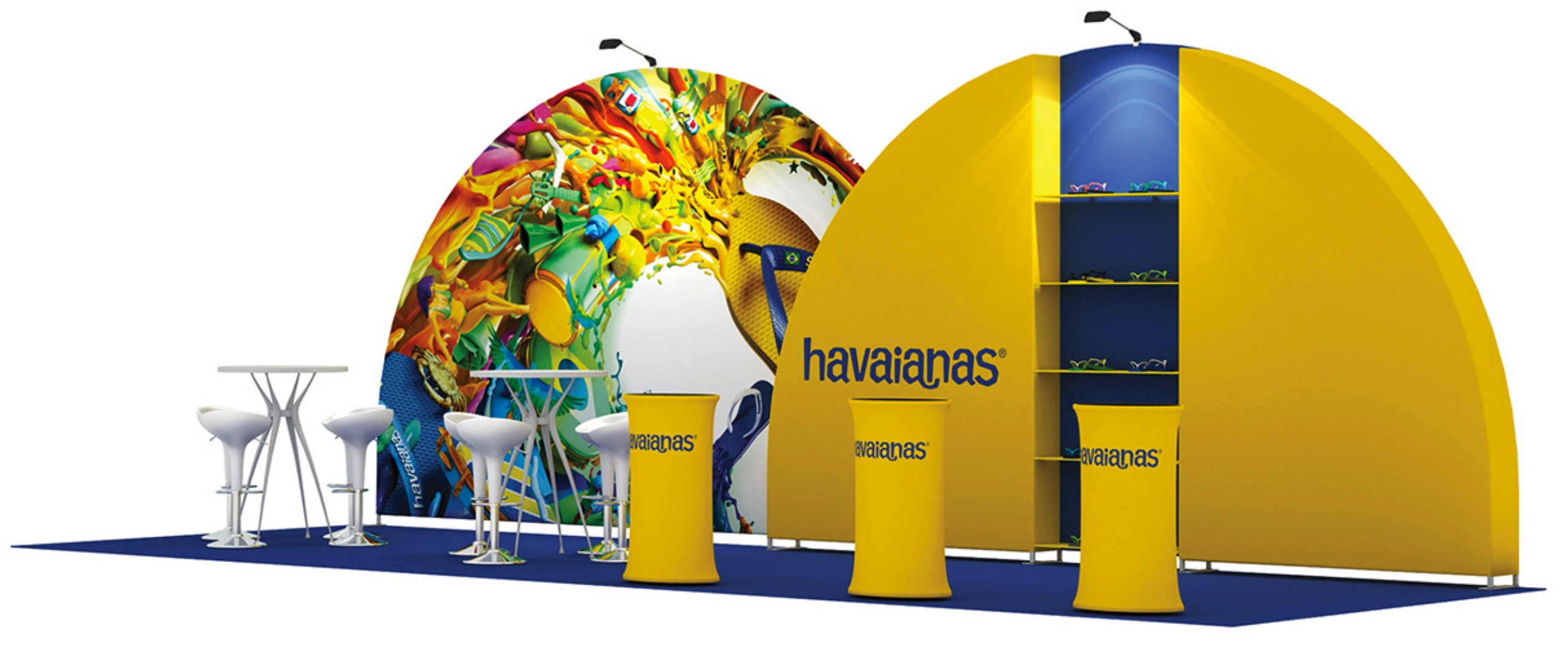 custom set up exhibition havaianas