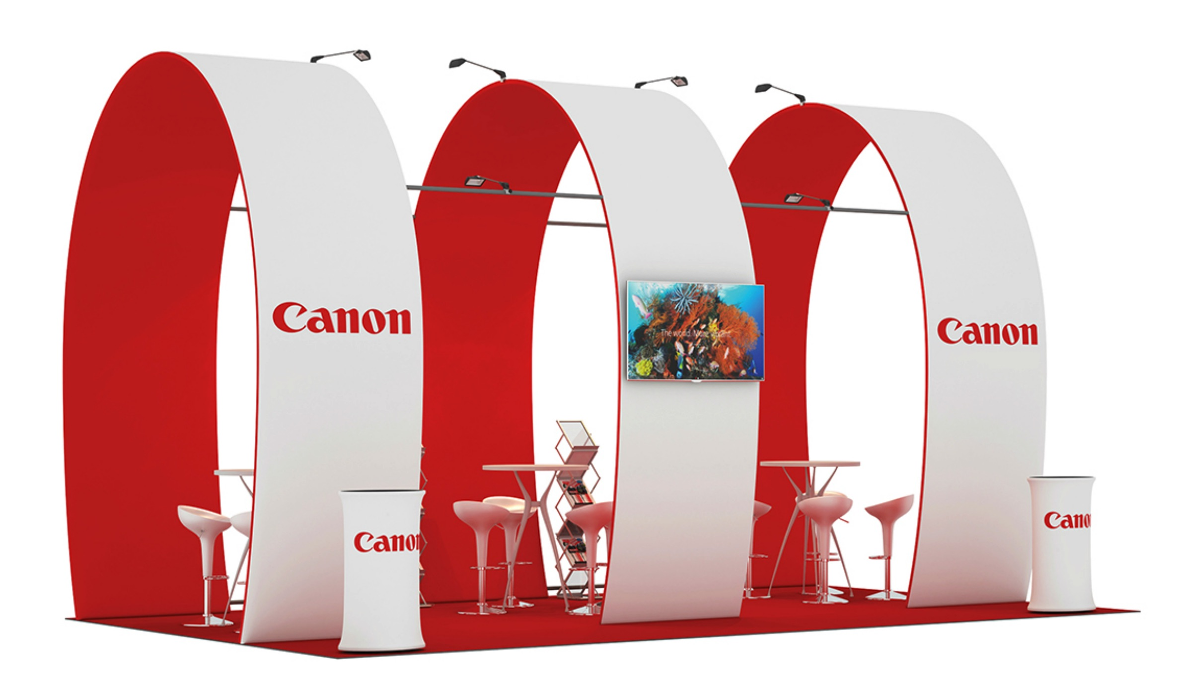 custom set up exhibition canon