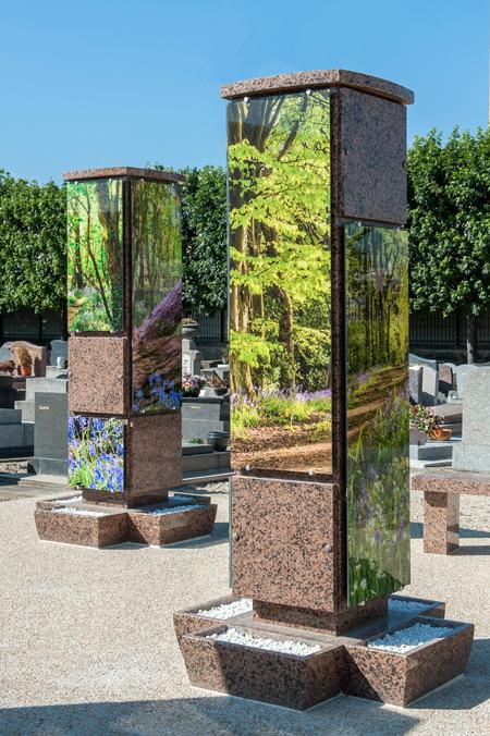 Anahuka Habillage plaque verre columbarium
