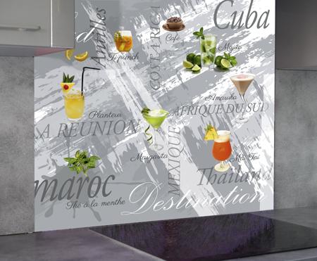 Anahuka crédence de cuisine personnalisée en verre
