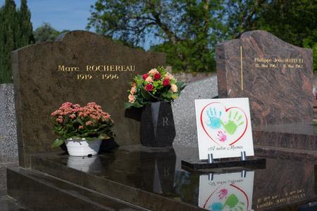 Anahuka plaque funéraire personnalisée
