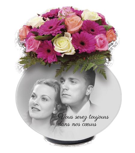 Anahuka Plaque funeraire souvenir sur vase
