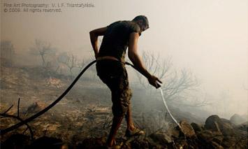 National Geographic online award: Lemnos on Fire by Vassilis Triantafyllidis