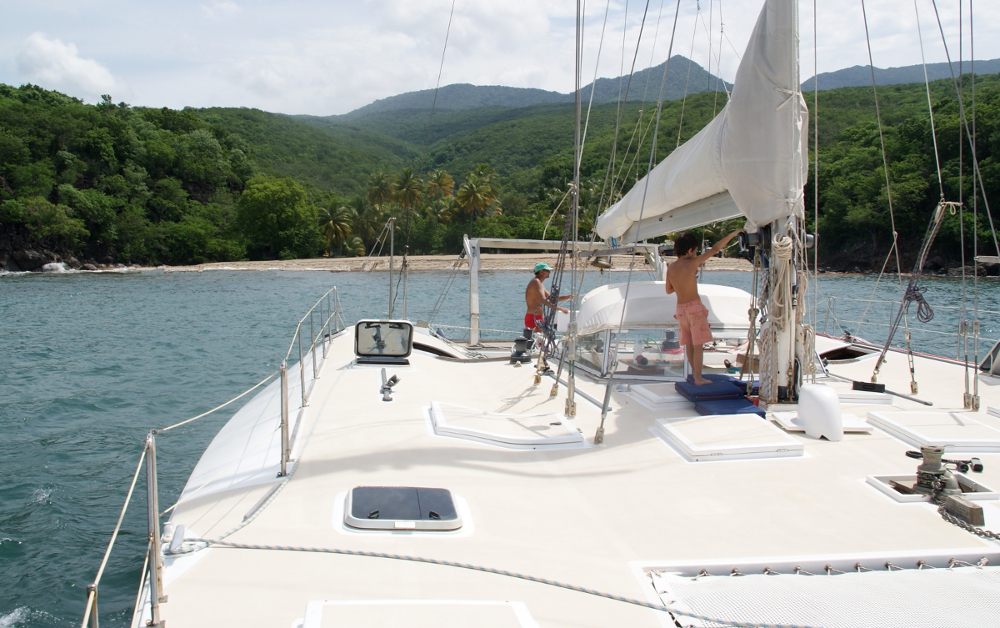 Excursion Basse Terre catamaran