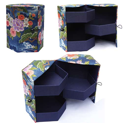 Boite avec tiroirs, Box with drawers