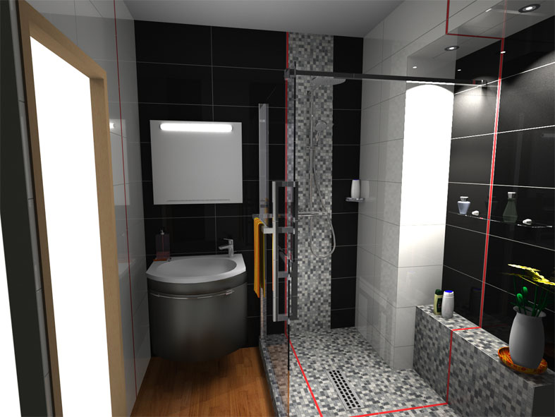 Amenagement renovation decoration - Projet salle de bain 3d ...