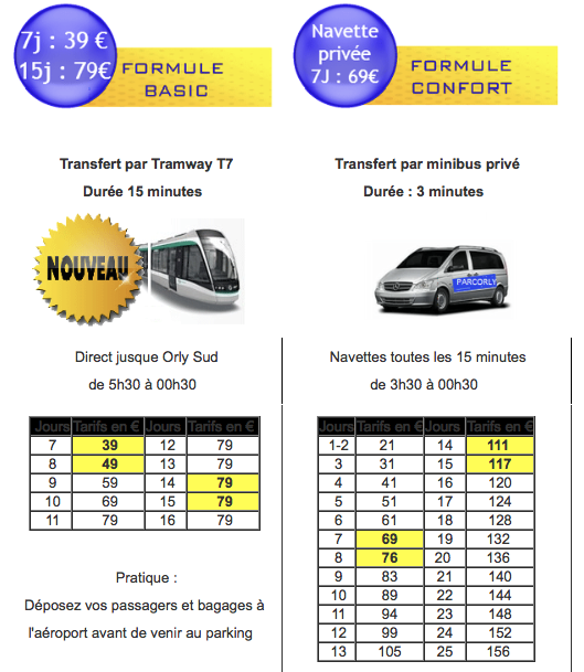 parking orly ouest tarif