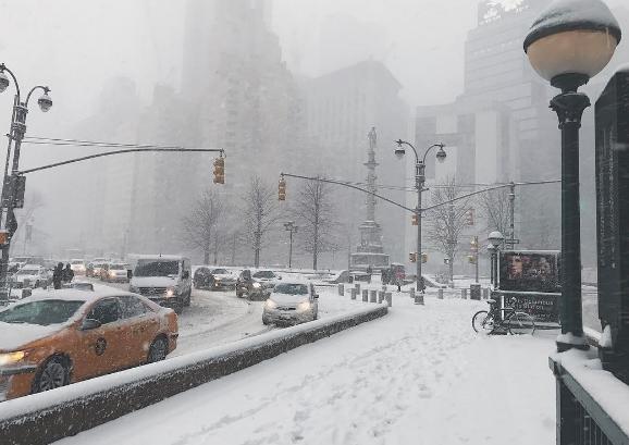 Circulation sous la neige