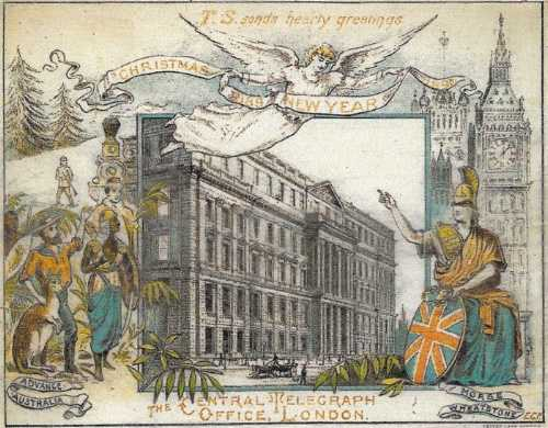 1889 CTO Christmas Card