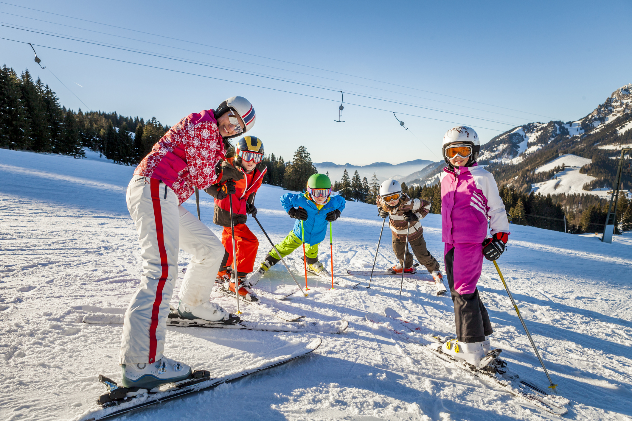 COLLECTIFS SKI  6,12 ans / GROUP SKI LESSON 6 to 12 years old (11h -13h)