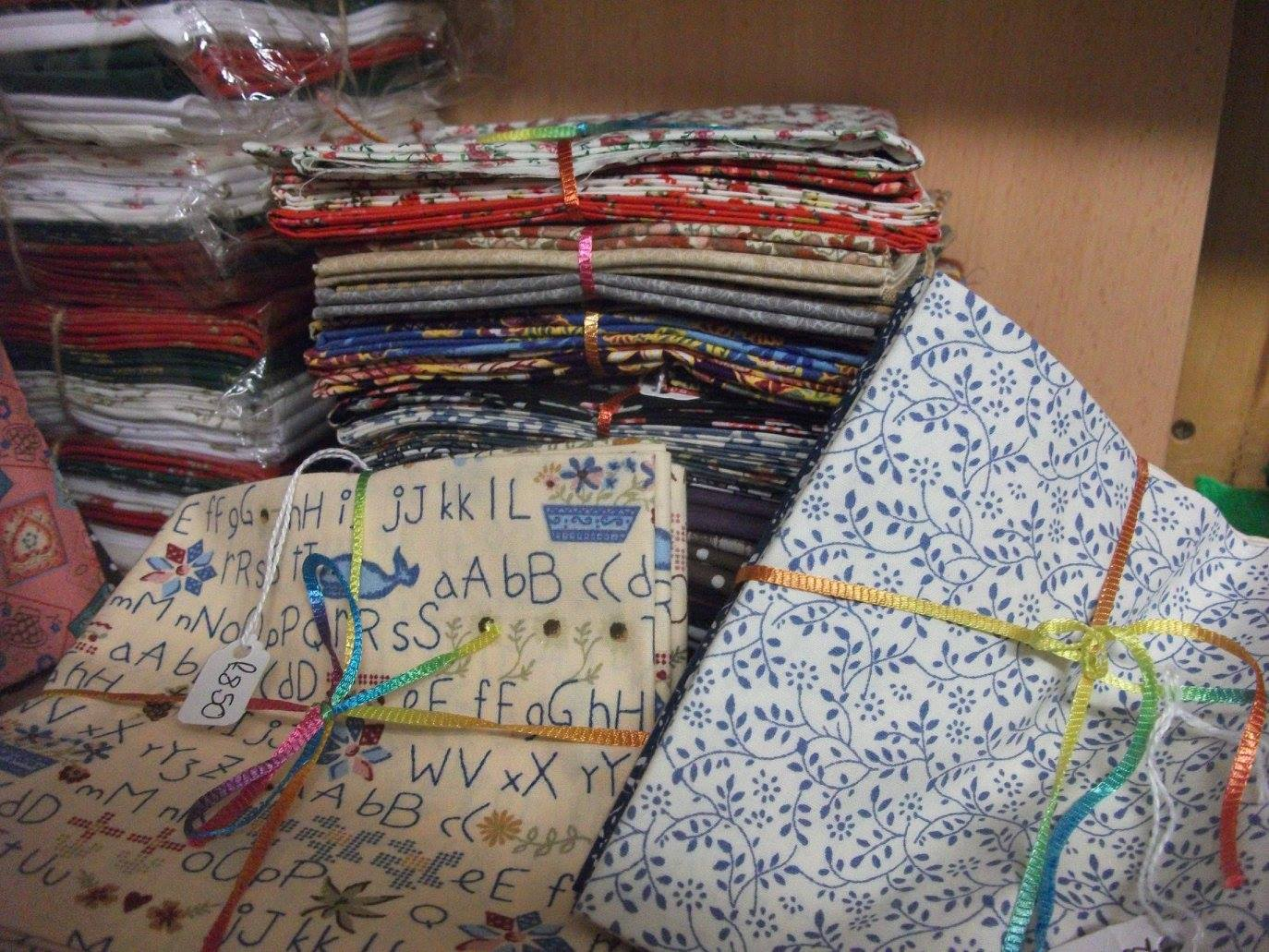 Bundles of patterned fabric