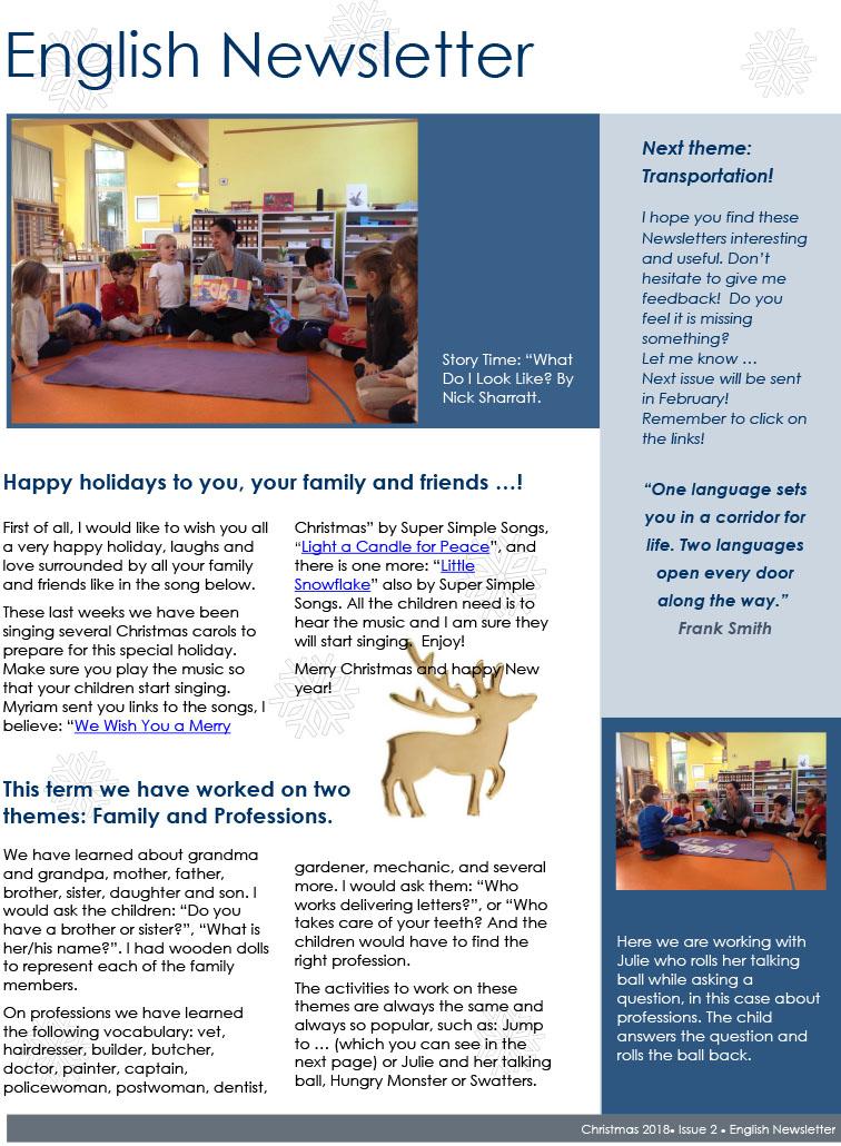 Newsletter pdf format