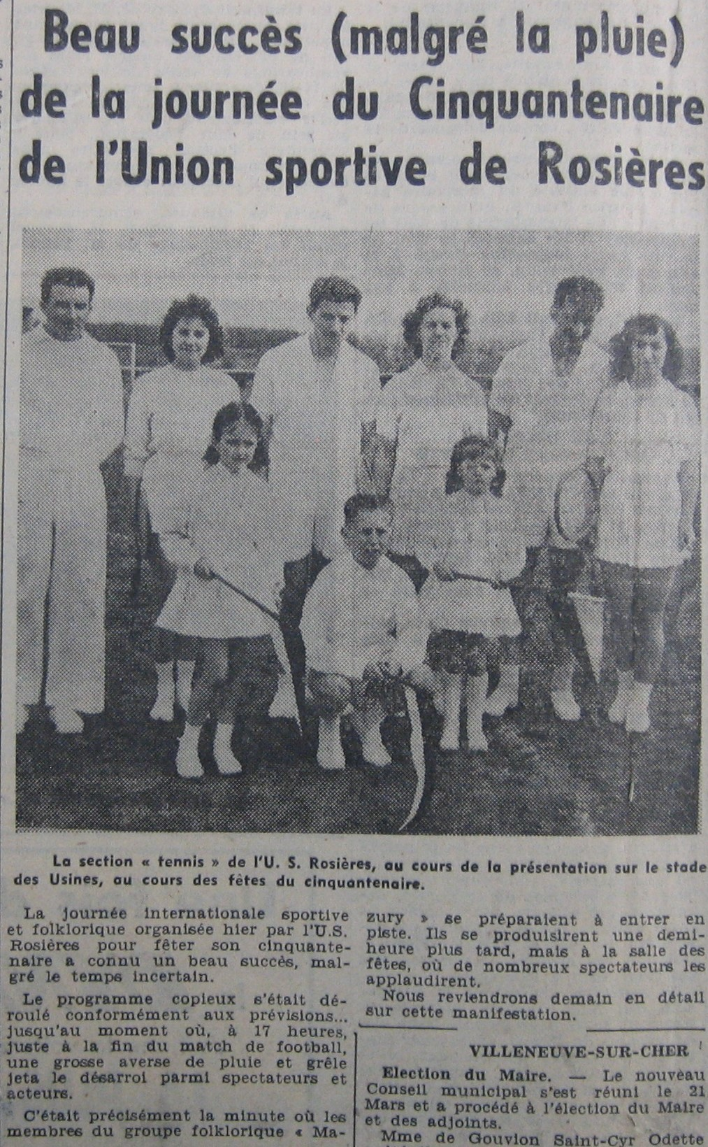Section tennis de l'USR
