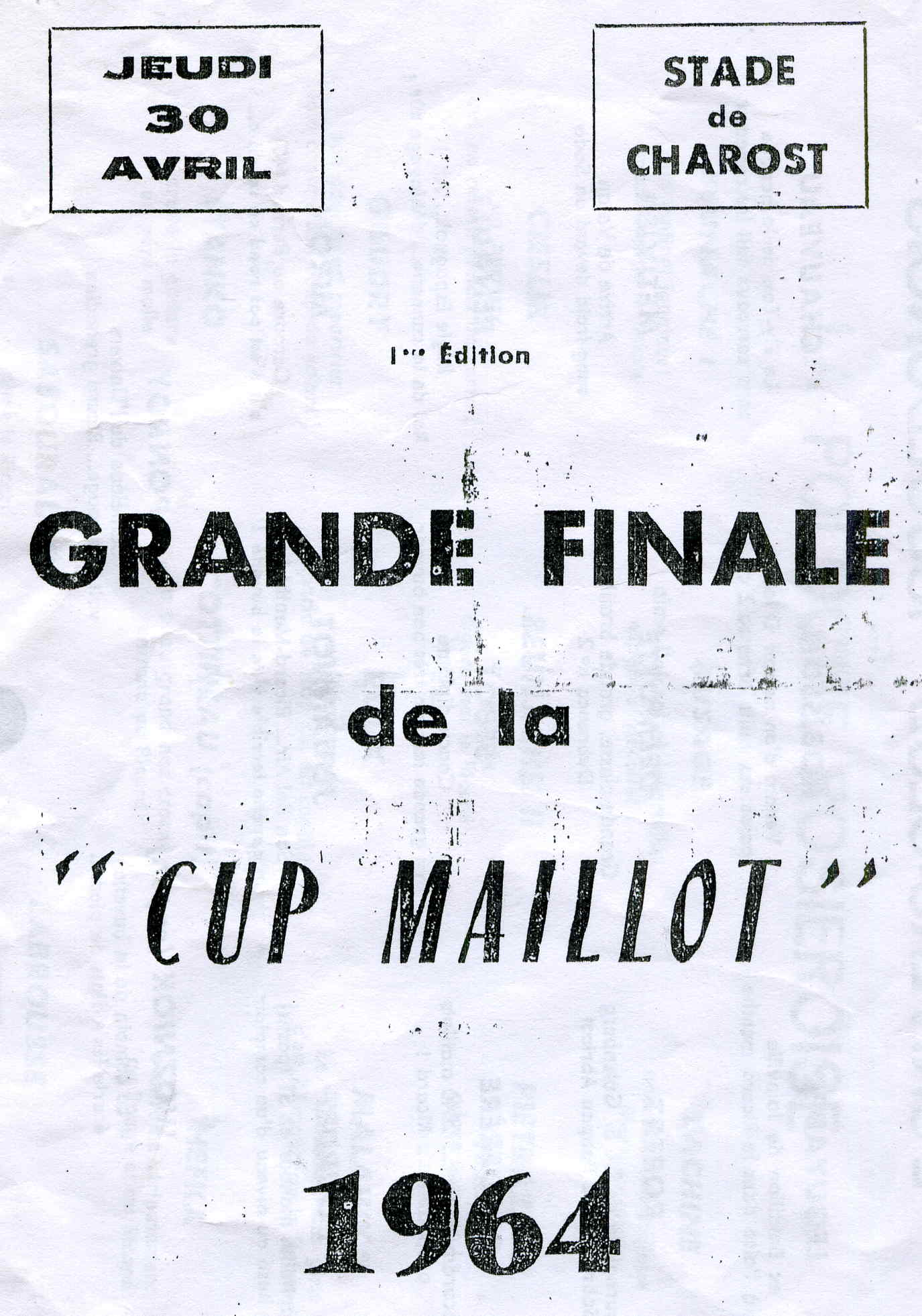 Cup Maillot -The first