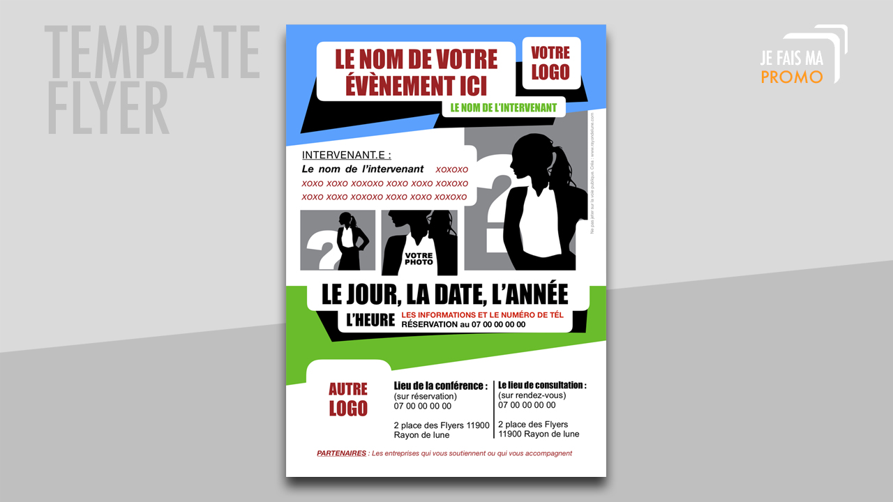 Template Flyer : Modele 1
